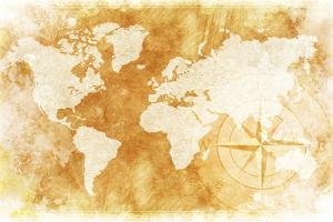 Rustic World Map by duallogic
