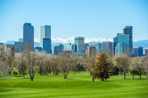 Sunny Denver Skyline by duallogic