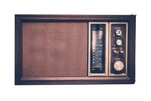 Vintage Radio Isolated by duallogic