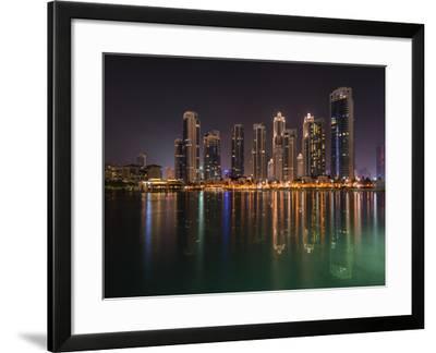 Dubai by Night-Marco Carmassi-Framed Photographic Print