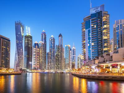Dubai Marina Skyline at Night, Dubai City, United Arab Emirates, Middle East-Neale Clark-Photographic Print