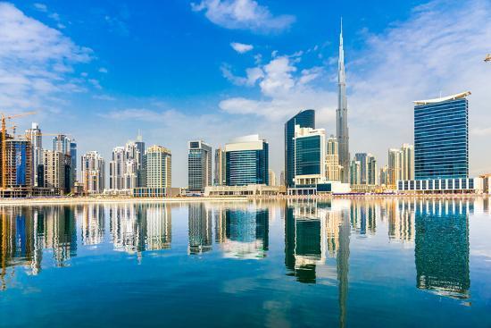 Dubai Skyline, Uae.-Luciano Mortula - LGM-Photographic Print