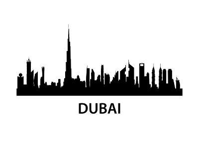 Dubai Skyline-unkreatives-Art Print