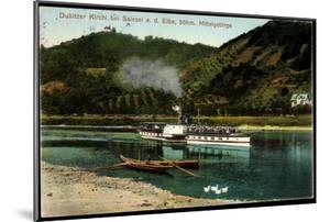 Dubitzer Kirchl B. Salesel Elbe, Dampfer Schandau