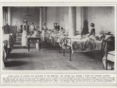 Dublin Castle as Hospital for Casualties in the Rebellion--Photographic Print