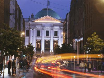 Dublin City Hall at Night-Richard Nowitz-Photographic Print