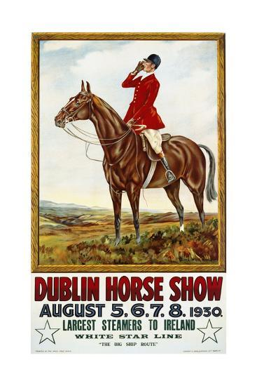 Dublin Horse Show Poster-Olive Whitmore-Giclee Print
