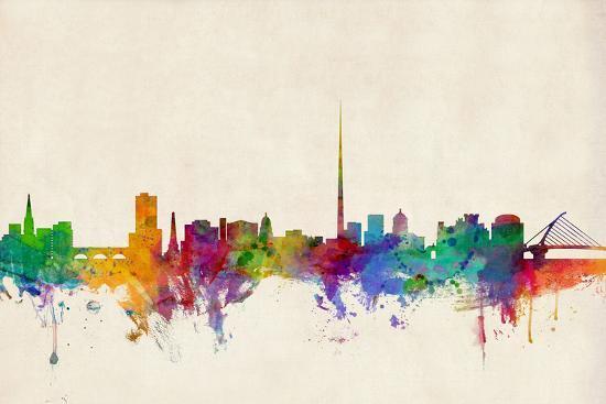 Dublin Ireland Skyline-Michael Tompsett-Art Print