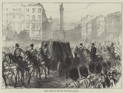 Dublin Obsequies of Lord Mayo, the Funeral Procession-Charles Robinson-Giclee Print