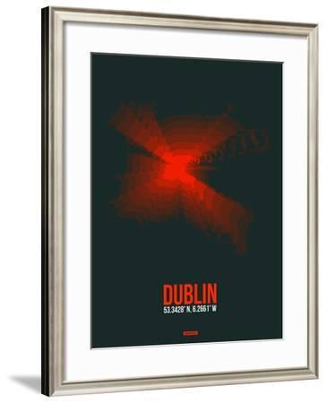 Dublin Radiant Map 3-NaxArt-Framed Art Print