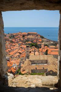Dubrovnik, Dubrovnik-Neretva County, Croatia. View over rooftops of the old town from the Mincet...
