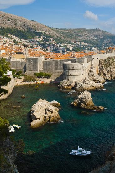 Dubrovnik Old Town and the City Walls-Matthew Williams-Ellis-Photographic Print