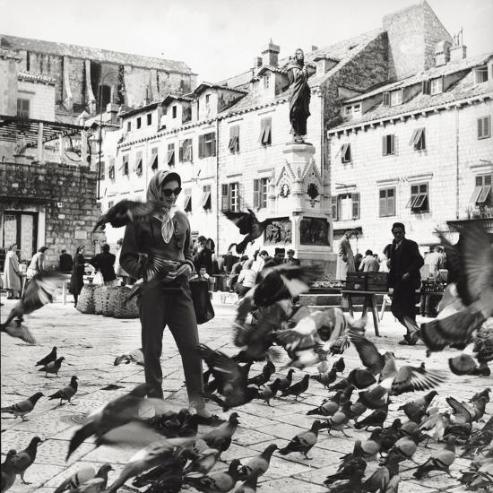Dubrovnik's Marketplace--Photographic Print