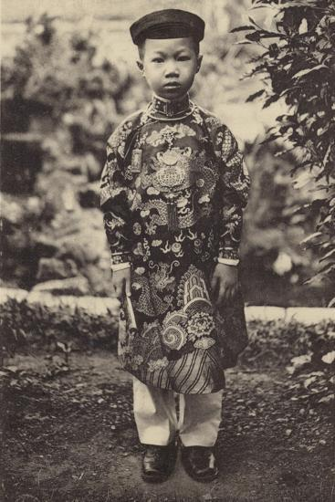 Duc Vinh-Thuy, Prince Heritier D'Annam--Photographic Print