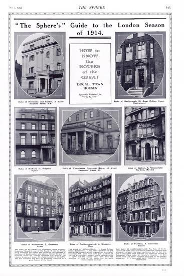 Ducal Houses of London, 1914--Photographic Print