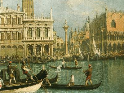 Ducal Palace and St Marks Venice Detail-Canaletto-Giclee Print