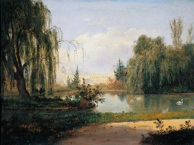 Ducal Park of Colorno with a View of the Pond-Giuseppe Drugman-Art Print
