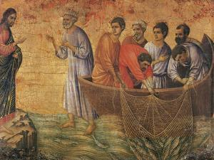 Christ at the Sea of Galilee, Detail from Episodes from Christ's Passion and Resurrection by Duccio Di buoninsegna