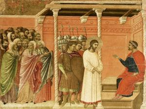 Christ before Pilate, Detail of Tile from Episodes from Christ's Passion and Resurrection by Duccio Di buoninsegna