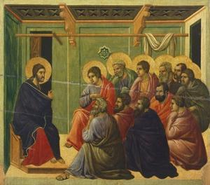 Christ Is Separated from the Apostles by Duccio Di buoninsegna