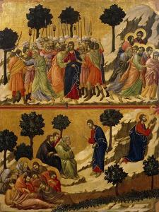 Kiss of Judas, and Prayer on Mount of Olives by Duccio Di buoninsegna