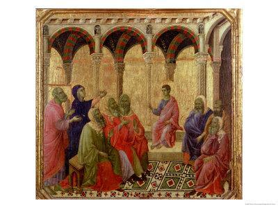 Maesta: Christ Among the Doctors, 1308-11