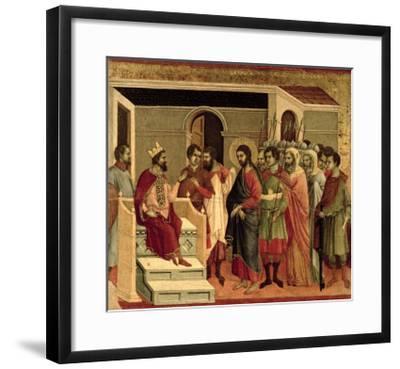 Maesta: Jesus Before Herod, 1308-11