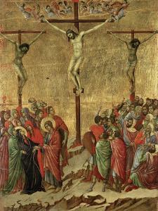 Maestà - Passion: Crucifixion', 1308-1311 by Duccio Di buoninsegna