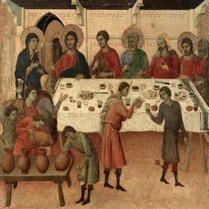 Maestà - Public Life of Christ: the Wedding Feast of Cana, 1308-1311 by Duccio Di buoninsegna