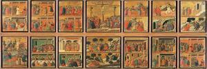 Maesta, Scenes from the Life of Christ by Duccio Di buoninsegna