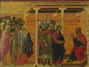 Pontius Pilate's Second Interrogation of Christ by Duccio Di buoninsegna