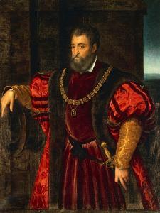 Portrait of Alfonso D'Este by Duccio Di buoninsegna