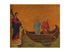 'The Calling of the Apostles Peter and Andrew', 1308-1311 by Duccio di Buoninsegna