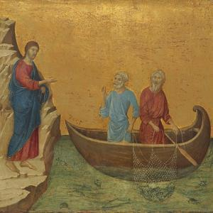 The Calling of the Apostles Peter and Andrew, 1308/1311 by Duccio Di buoninsegna