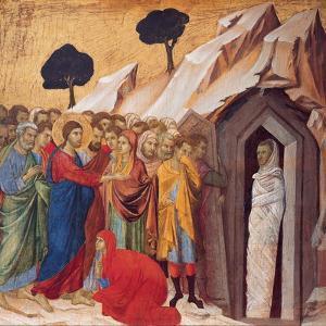 The Raising of Lazarus by Duccio di Buoninsegna