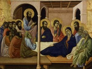 The Virgin Taking Leave of the Apostles by Duccio Di buoninsegna