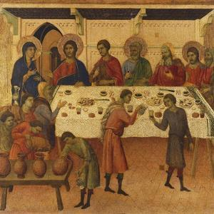 The Wedding at Cana, Detail of Tile from Episodes from Christ's Passion and Resurrection by Duccio Di buoninsegna