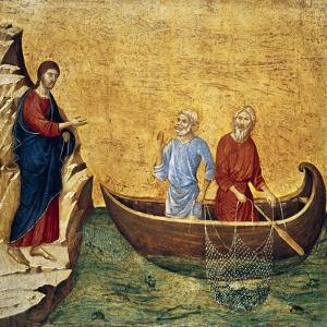 Vocacion De Los Apostoles Pedro Y Andres by Duccio Di buoninsegna