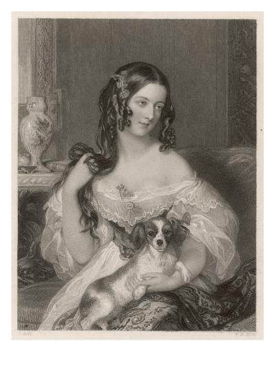 Duchess Cleveland and Dog--Giclee Print