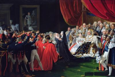 Duchess of Berry Presenting the Duke of Bordeaux to the People and the Army, September 1820-Charles Nicolas Raphael Lafond-Giclee Print
