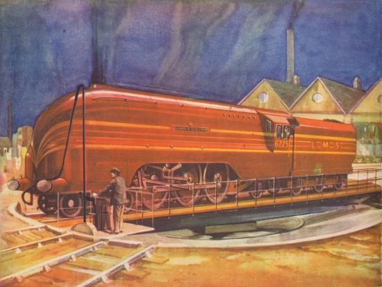 'Duchess of Gloucester, L.M.S., on the Turntable, Camden Town', 1940-Unknown-Giclee Print