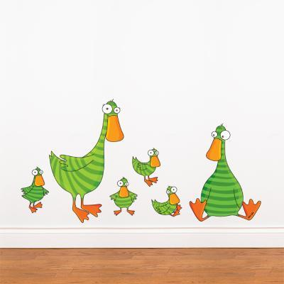 Duck and Ducklings Wall Decal--Wall Decal
