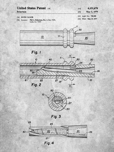 Duck Commander Duck Call Patent, Phil Robertson, Inventor-Cole Borders-Art Print