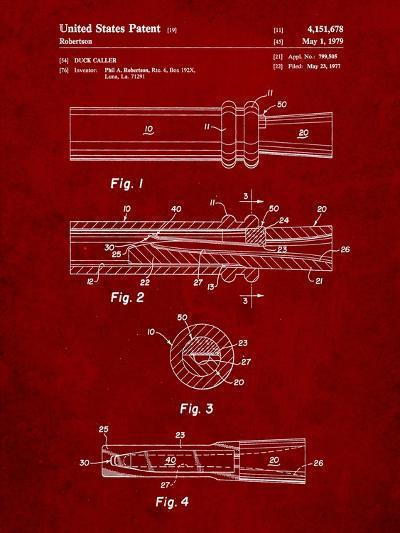 Duck Commander Duck Call Patent, Phil Robertson, Inventor-Cole Borders-Art Print