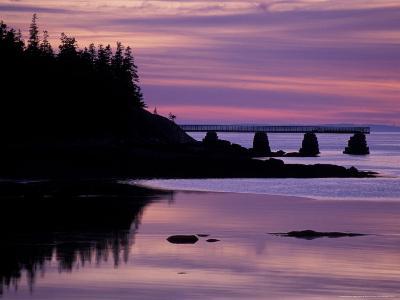 Duck Harbor at Sunset, Isle Au Haut, Maine, USA-Jerry & Marcy Monkman-Photographic Print