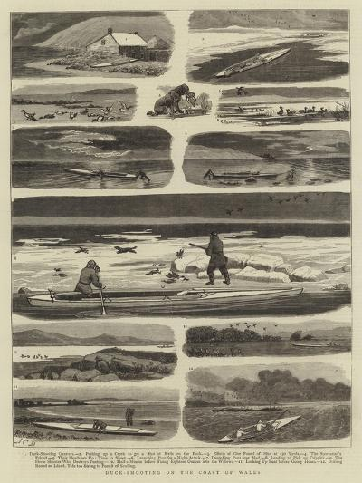 Duck-Shooting on the Coast of Wales-John Charles Dollman-Giclee Print