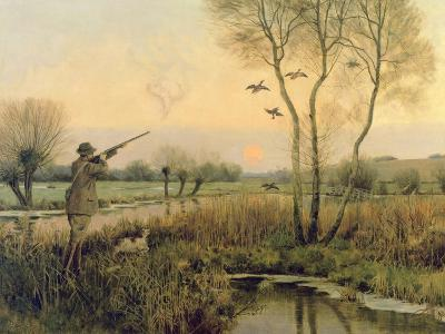 Duck Shooting-Christopher William Strange-Giclee Print