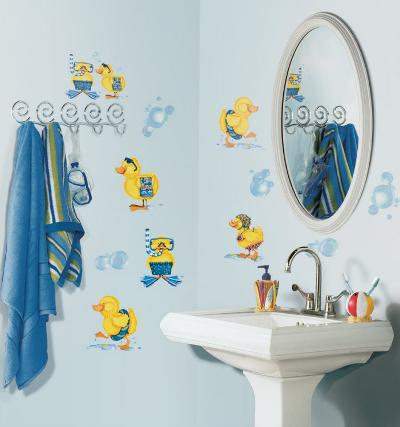 Ducks & Bubbles--Wall Decal