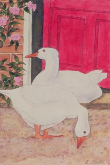 Ducks by the Open Door-Linda Benton-Giclee Print