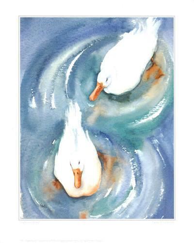 Ducks in a Pond-Paula Patterson-Art Print
